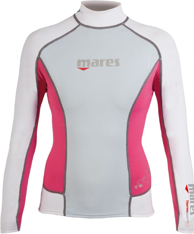 Mares - Thermal Rash Guard Vest - Ladies Long Sleeve - Pink